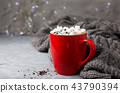 hot chocolate with marshmallow 43790394