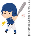 棒球运动员男子 43790511