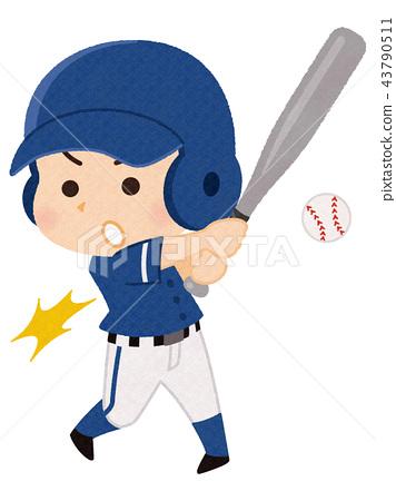 棒球運動員男子 43790511