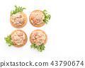 tuna salad with cracker 43790674
