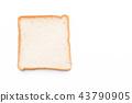 milk bread on white 43790905