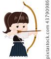 japanese archery, bow and arrow, sport 43790986