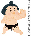相撲摔跤手 43791158