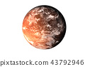Planet Mars with atmosphere 43792946