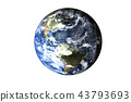 Planet Earth of solar system isolated 43793693