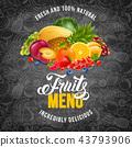 Fruits menu 43793906