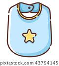 Baby bib LineColor illustration 43794145
