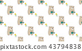배경, 꽃, 곰 43794838