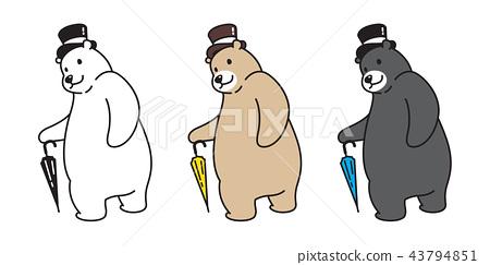 Bear vector polar Bear logo icon top hat umbrella  43794851