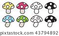 mushroom vector icon logo cartoon illustration 43794892