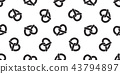 pretzel seamless pattern vector cookie snack breed 43794897
