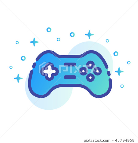 Game controller LineColor illustration 43794959