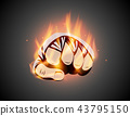 hand, fist, flame 43795150