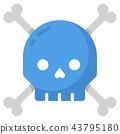 Suicide flat illustration 43795180