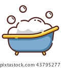 Baby tub LineColor illustration 43795277