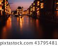The Warehouse District - Speicherstadt in twilight. Tourism landmark of Hamburg. View of 43795481