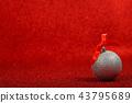 Christmas decor on red 43795689