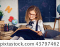 Learning concept with cute little girl 43797462