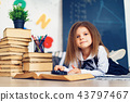Learning concept with cute little girl 43797467