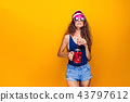 Stylish lady with drink 43797612
