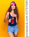 Stylish lady with drink 43797685
