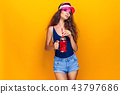 Stylish lady with drink 43797686