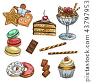 甜點 甜品 草圖 43797953