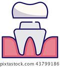 Dental crown LineColor 43799186