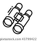 Sightseeing Line Icon 43799422