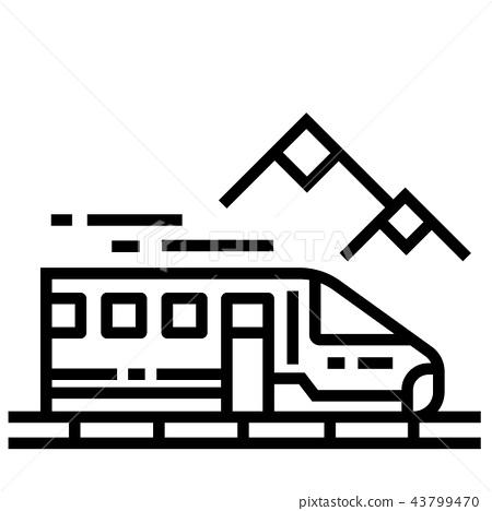 Train Line Icon 43799470