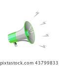 megaphone on white background 43799833