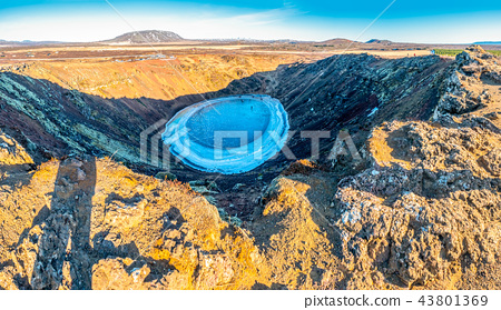 Kerid  crater in winter season, Iceland 43801369