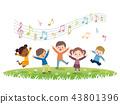 孩子們跳 43801396