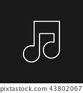 Music note Icon Vector 43802067