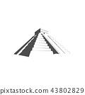 Maya Pyramid, Temple of Kukulkan. Mayan pyramid 43802829