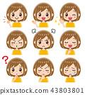 女性的面部表情集 43803801