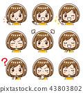 女性的面部表情集 43803802