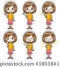 女性的面部表情集 43803841