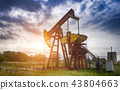 oil pump on stormy clouds 43804663