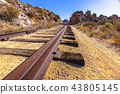 Low angle train tracks in the desert 43805145