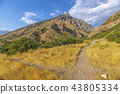 Crossing trails in Provo Canyon 43805334