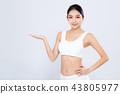 Portrait young asian woman smiling beautiful body diet with fit 43805977