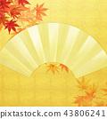 แผ่นทอง,พื้นหลัง,ฤดูใบไม้ร่วง 43806241