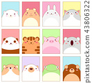 Set of banners with cute animals 43806322