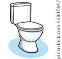 Vector toilet color design concept 43807847