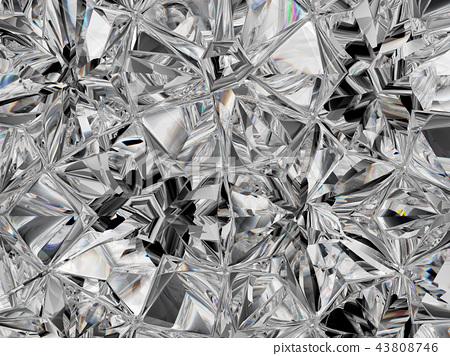 diamond structure extreme closeup and kaleidoscope 43808746