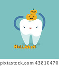 Halloween day of dental, tooth fantacy concept. 43810470