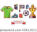 Football and Soccer Icons Set 43811611