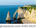 Natural chalk arch at Etretat, France 43811624