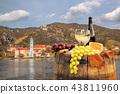 White wine with barrel in Wachau,Durnstein,Austria 43811960
